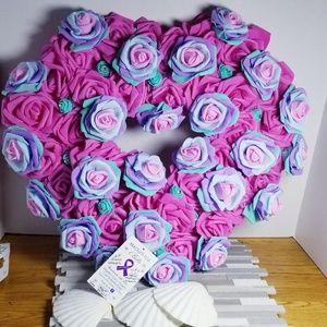 65 Rose Wreath CYSTIC FIBROSIS